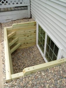 Egress window for a basement